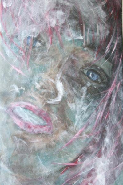 Woman in red II 60 x 120 cm 2015